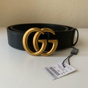 -New Gucci Belt Aùthentic Double G Marmot GG